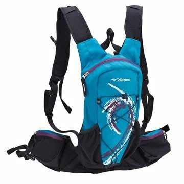 飛揚 MIZUNO 美津濃 水袋背包 運動貼身背包 可放水袋 藍 33TD451121