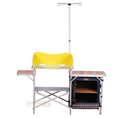 【山野賣客】Camping Ace 野樂 民族風加大箱式行動廚房單櫃 輕量化鋁合金餐桌 戶外廚房 炊事桌 ARC-765