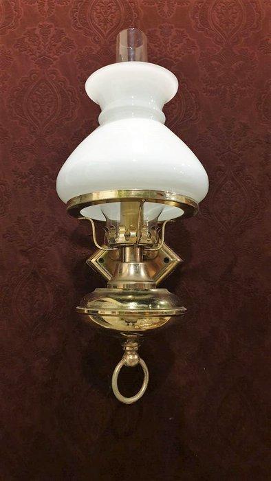 【卡卡頌  歐洲古董】🌷法國老件 油燈造型  鄉村 古典  壁燈  la0293
