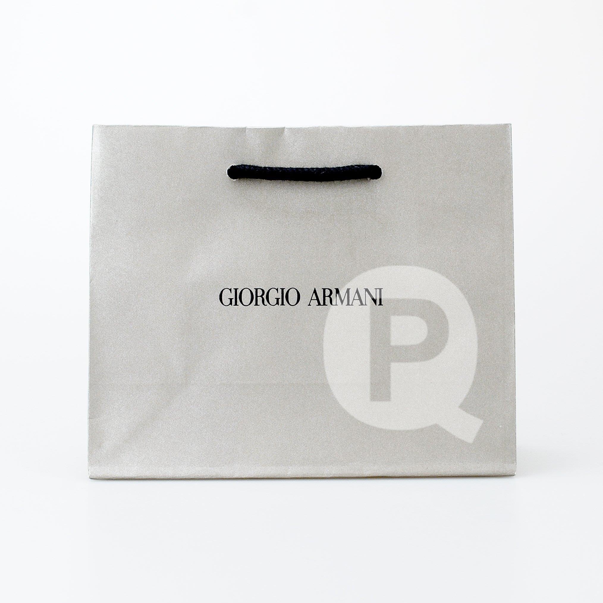 GIORGIO ARMANI 精品品牌紙袋 (13*5.5*10.5cm) 迷你 【芭樂雞】