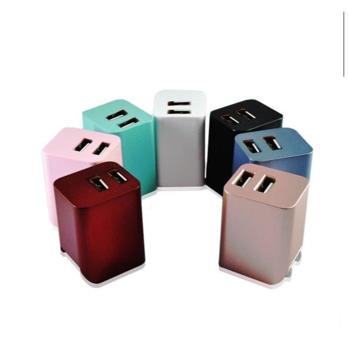 雙孔 12W 台灣製造 摺疊 充電頭 豆腐頭 充電器 安卓頭 蘋果頭 插頭 usb充頭 快充 快充頭 變壓器