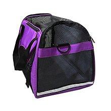 品名: 外出透氣寵物包手提單肩狗貓旅行包(紫色) J-13565