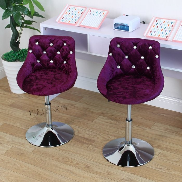 現貨/歐式吧臺椅升降椅旋轉椅美容凳子美甲椅子靠背椅化妝師椅現代簡約154SP5RL/ 最低促銷價