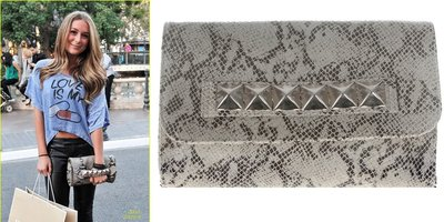 JJ Winters 台北ShopSmart直營店 維多利亞超摩 Alessandra款 蟒蛇紋鉚釘包 手拿包 肩背包
