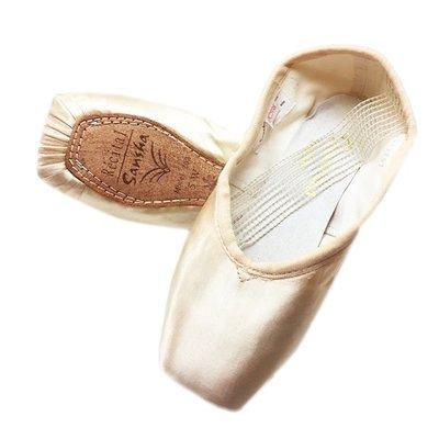 半價出清 漫舞精靈 法國Sansha公主芭蕾舞鞋 芭蕾硬鞋緞面皮底舞蹈鞋