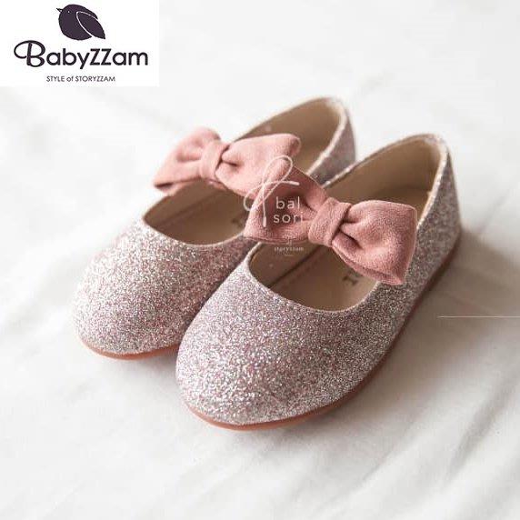 『※妳好,可愛※』妳好可愛韓國童鞋 BABYZZAM~正韓 時尚名媛甜美風娃娃鞋 蝴蝶結娃娃鞋