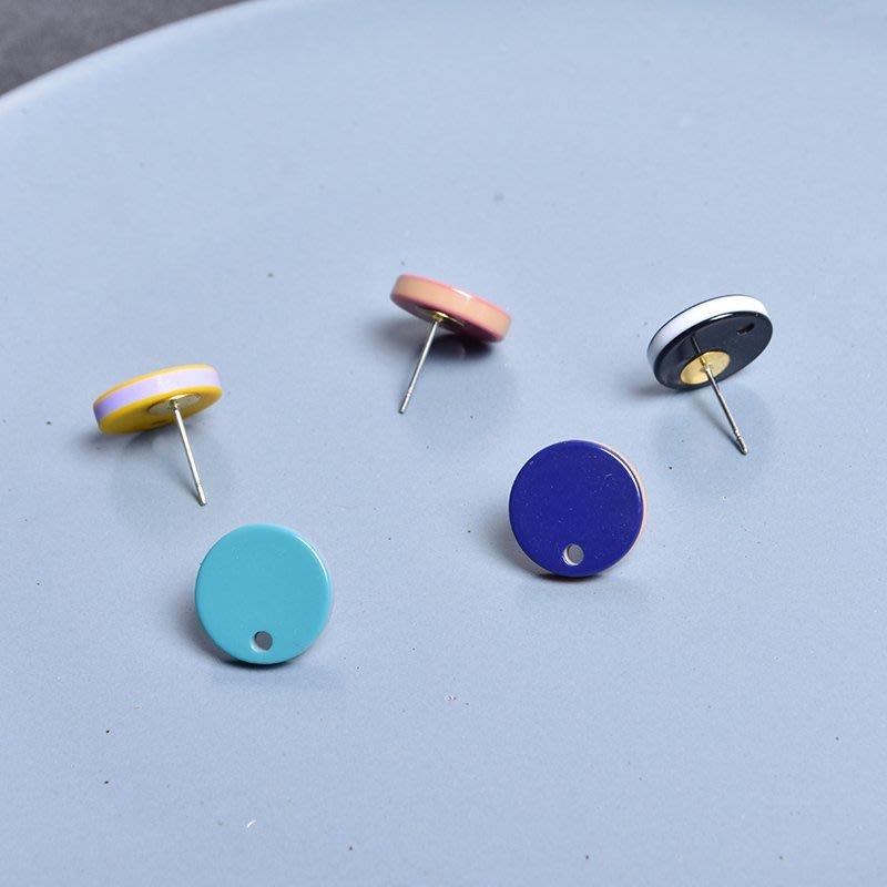 DIY耳釘耳環耳夾耳飾品材料 新款單吊圓耳針 手工新制作串珠耳墜配件XLA-002