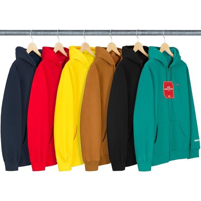 【美國鞋校】預購 Supreme FW19 WINDSTOPPER ZipUp Hooded Sweatshirt 帽夾