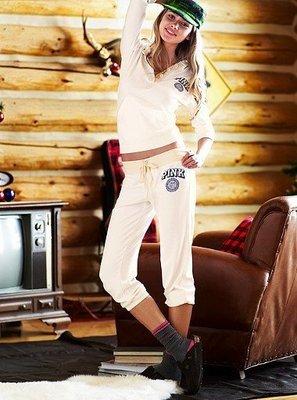 美式作風**Victoria's Secret*@PINK- 七分棉質束腳運動休閒褲(213532)