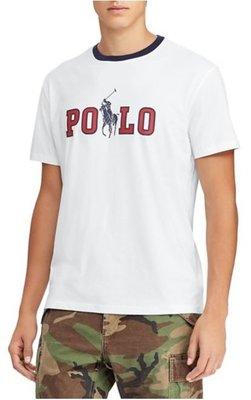 POLO Ralph Lauren 成人款 短袖 T恤 印花 POLO 大馬 白色