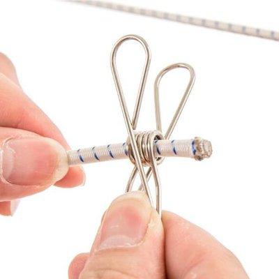 爪爪不鏽鋼彈簧鋼絲線夾(單支)【JI2308】《Jami Honey》