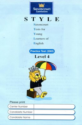 師德英文檢定 STYLE 《4》Saxoncourt Examinations Practice Test (附CD)