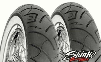 (輪胎王)日本SHINKO SR777 (WWW) 130/90-16+180/70-15  vn 適用白邊胎