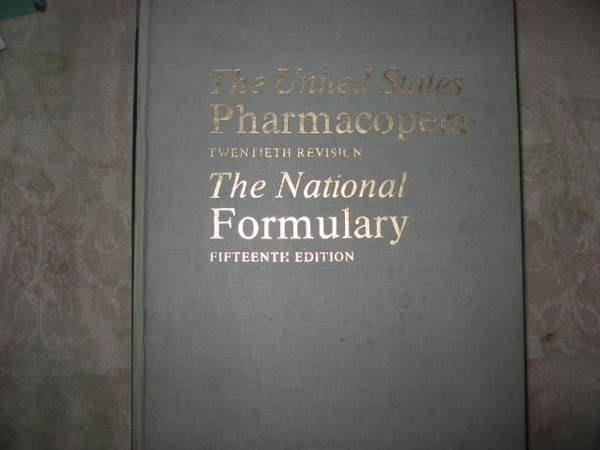 二姑書坊 :    The  United  States  Pharmacopeia  The  National  Formulary