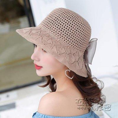 小清新漁夫帽太陽帽女夏草帽遮陽帽海邊度假出游防曬韓版沙灘帽 衣櫥秘密