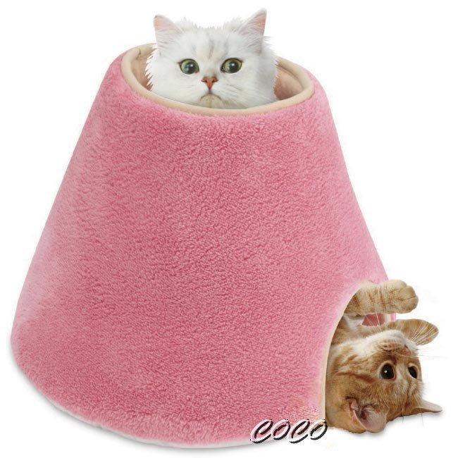 限量促銷【超保暖睡窩】日本Marukan圓柱型貓咪遊戲屋CT-250貓睡袋//貓床//睡墊//寵物睡床