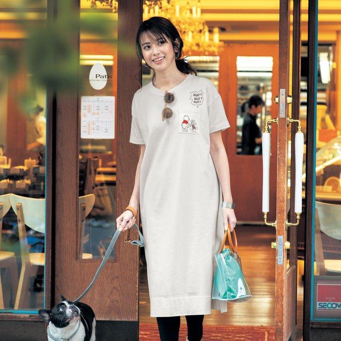 迪士尼Disney《預購》100%綿 胸前口袋 兩側開岔 休閒連身裙~共2款~日本正品~心心小舖