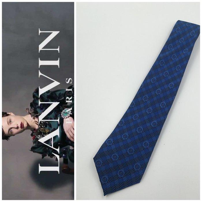 【皮老闆二店】領288 二手正品 狀況良好  LANVIN 手打領帶