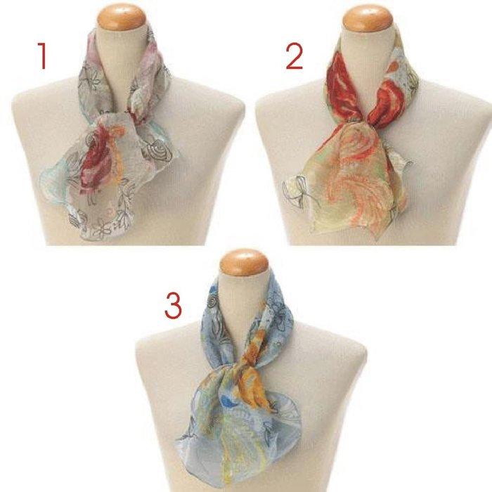 義大利製 ~ 2021年 簡約 波浪造型  短圍巾(賣場1-款式1~9) (共42款)