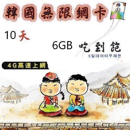 現貨特價!免設定 日本韓國上網卡10天6GB吃到飽 4G高速網路 國際漫遊卡 網路SIM卡 行動網卡 WIFI 附取卡針