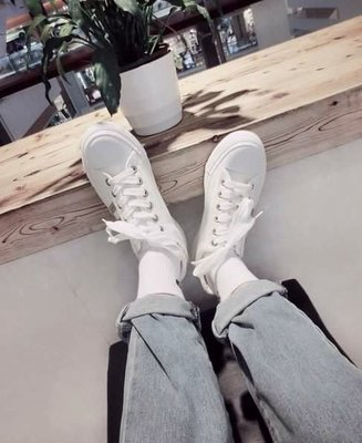 韓國基本白底 休閒鞋 小白鞋