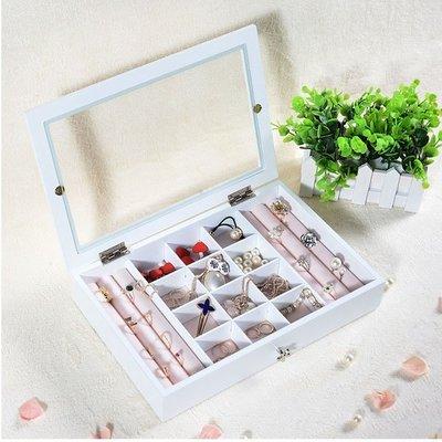 5Cgo【鴿樓】會員有優惠 45367037838 韓國 木質首飾盒歐式 公主飾品收納盒子 耳釘項鏈手镯手飾品展示盒