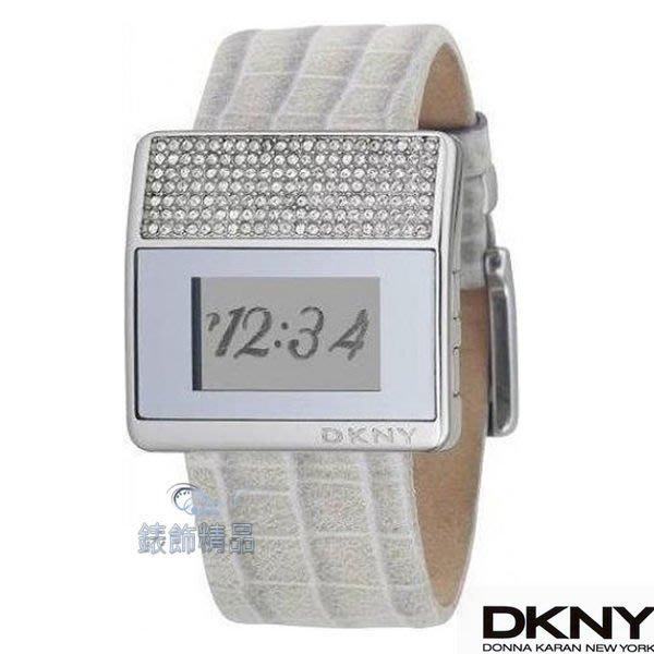 【錶飾精品】DKNY NY4224 狂野圖紋晶鑽錶框大藝術數字顯示/電子錶女錶 全新原廠正品