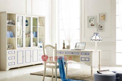 [紅蘋果傢俱] A618 芭芘系列 兒童家具 兒童書房組合 書櫃 書桌 書椅 收納櫃 儲物櫃