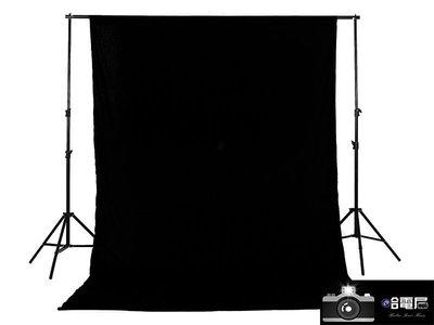 蘆洲(哈電屋) 黑色棉質背景布3米X6...