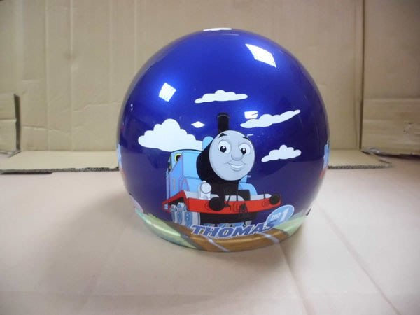 GIFT41 4165本通 三重店 湯瑪仕小火車 小童半罩式 安全帽 - TM 亮面明藍色 1308070001-5