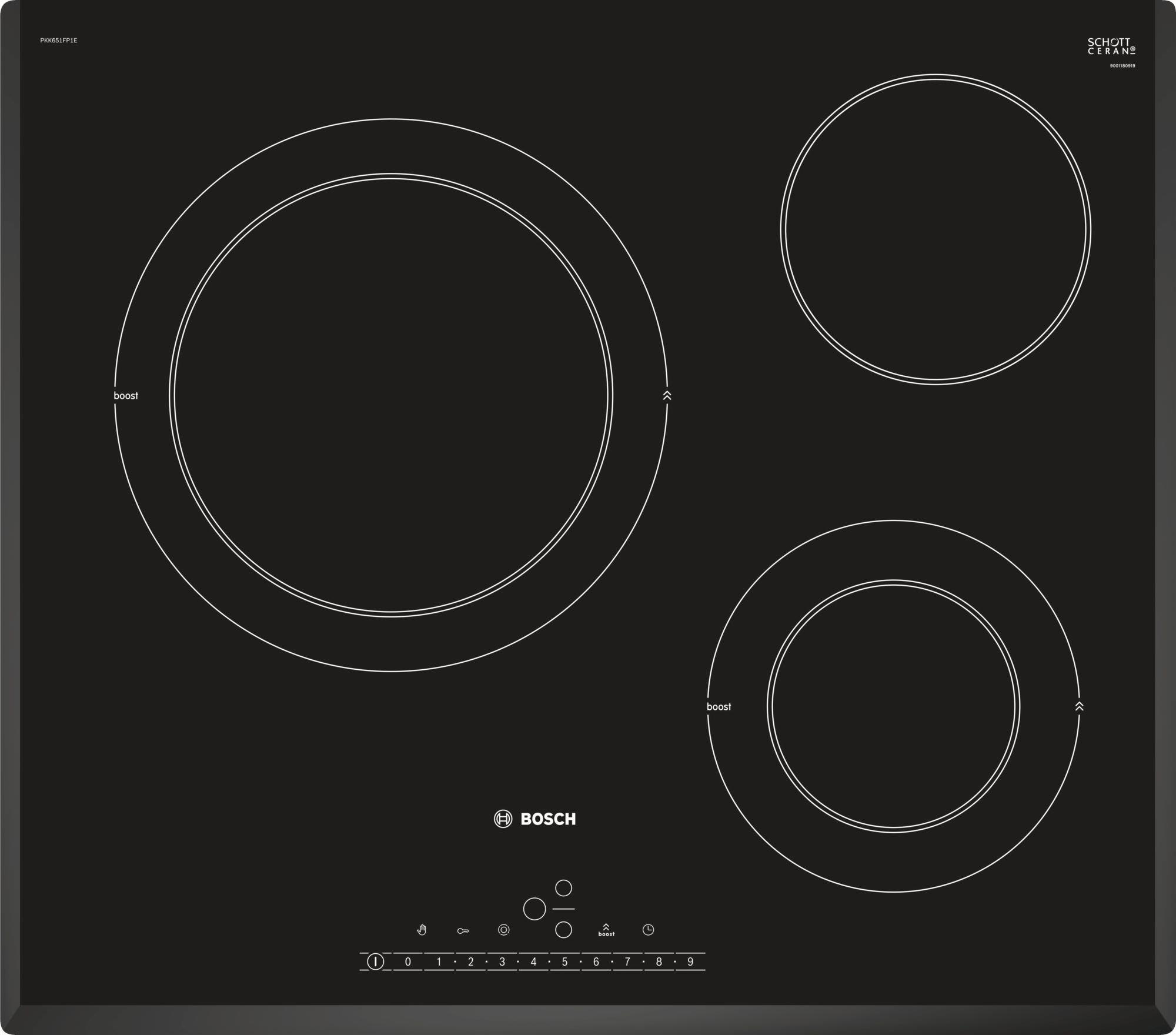 鋐霖櫥櫃 PKK651FP1E 德國BOSCH陶瓷玻璃檯面三口電陶爐~搭配廚具享優惠~