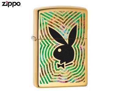 【寧寧精品*台中Zippo專賣店】美國直送終身保固 金色純銅 Playboy 官方授權80週年紀念款 4342-5