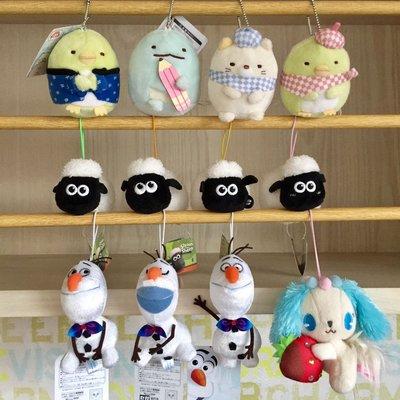 ❤Lika小舖❤現貨高約10cm日本帶回正版迪士尼冰雪奇緣 雪寶 Olaf 軟布小玩偶 包包掛飾吊飾笑笑羊角落生物