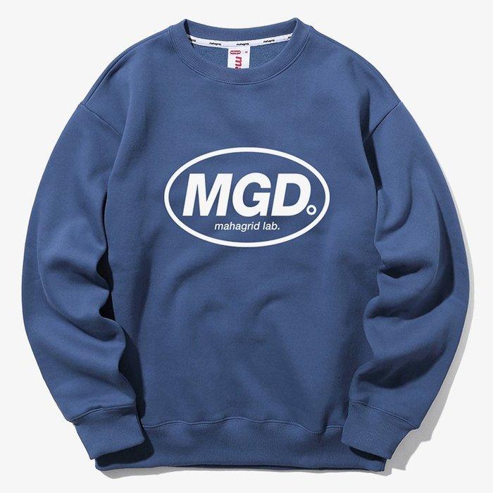 【QUEST】MAHAGRID - MGD CREWNECK 橢圓LOGO大學T  藍
