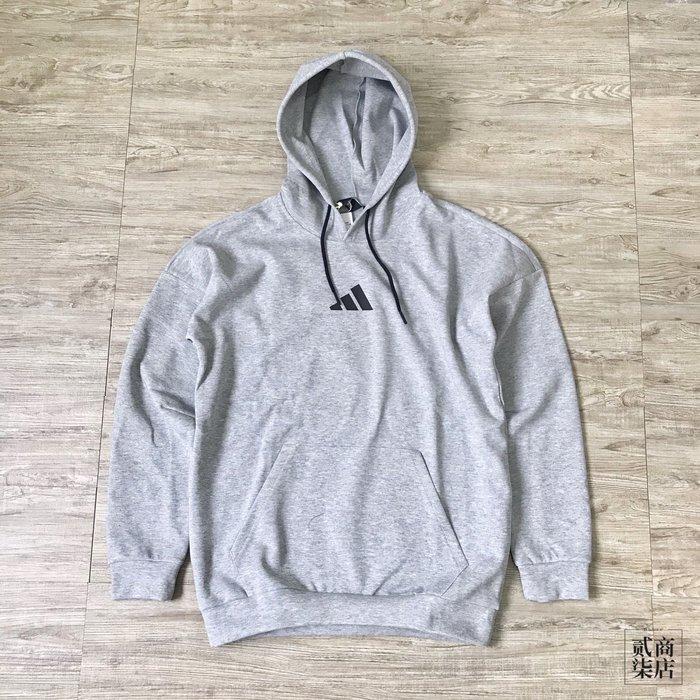 (貳柒商店) adidas Urban Tiger Hoodie 男款 灰色 帽T 老虎 連帽 FL7750