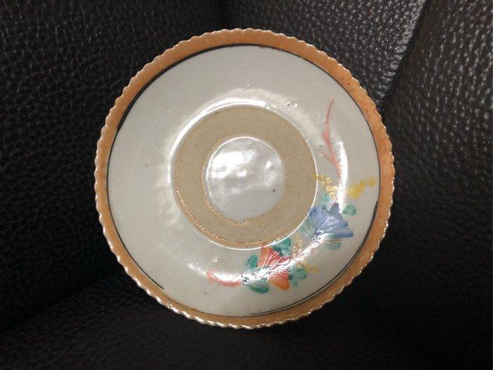清未民初 手繪疊燒盤