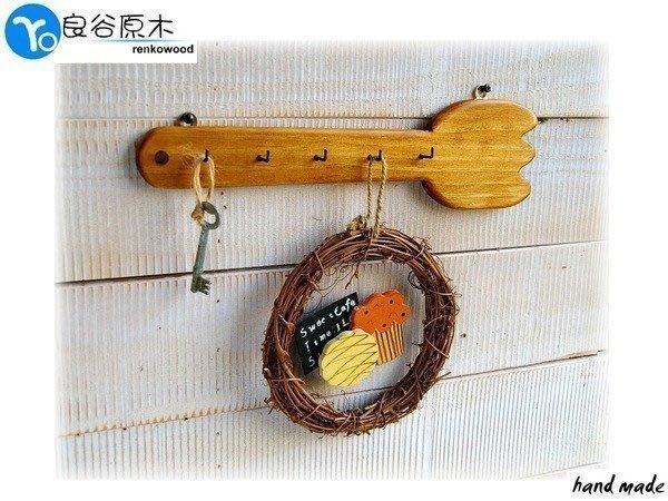 〝良谷原木〞叉子造型掛架/鑰匙掛勾/鄉村雜貨吊掛架/廚房園藝吊掛勾!超可愛