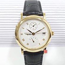 送禮禮物禮品LONGINES 浪琴 18K金 女用腕錶 原廠盒證 錶徑36mm 多功能面盤 大眾當舖 編號6112