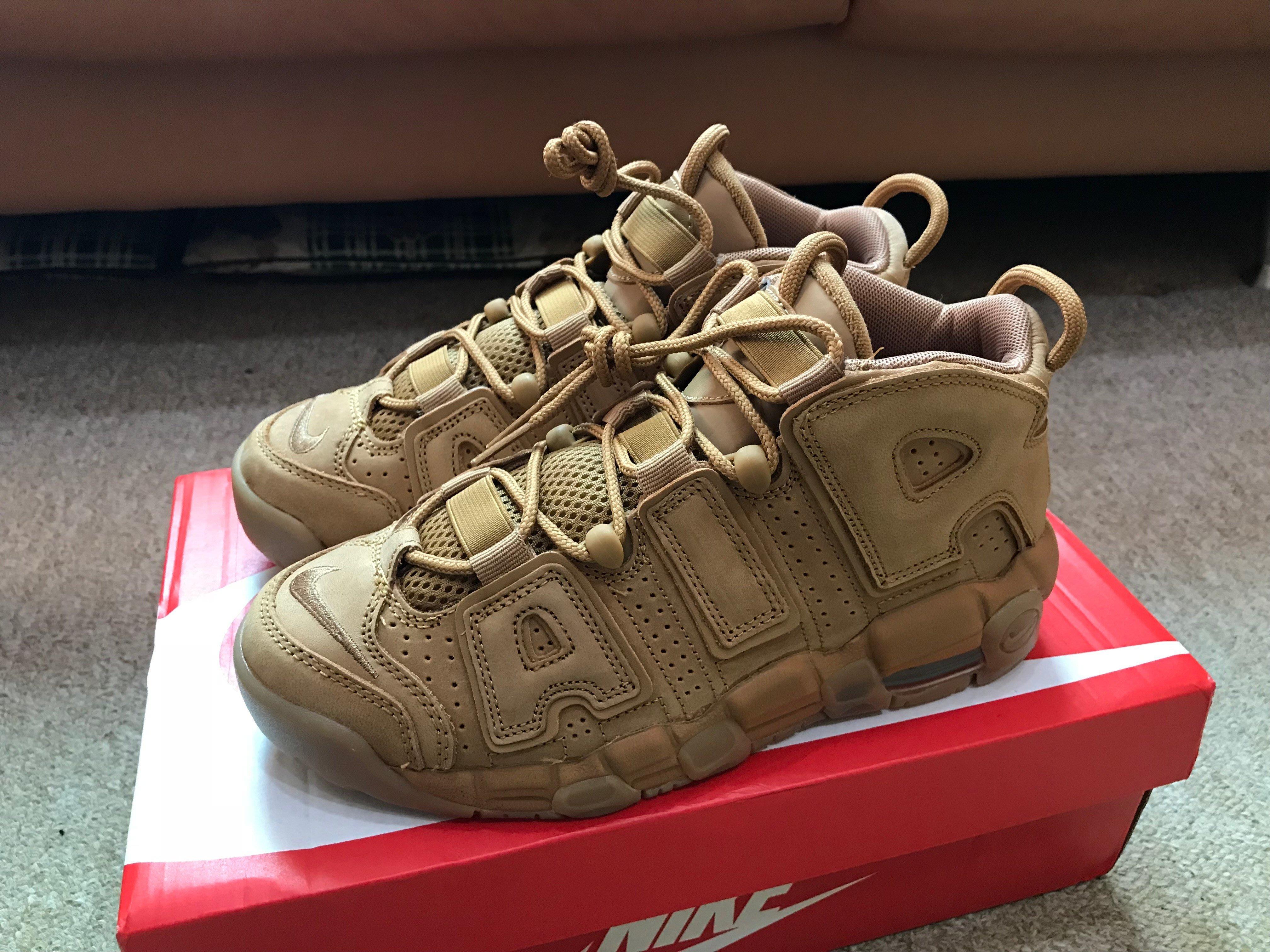Nike Air More Uptempo SE Flax 咖啡 駝色 褐色 麂皮 大AIR 922845-200