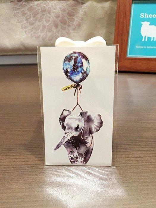 【萌古屋】藍色氣球大象 - 男女防水紋身貼紙原宿刺青貼紙WM-277
