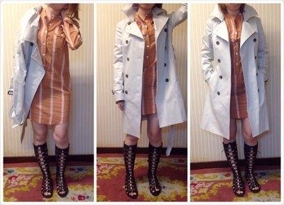Michel Klein trench coat/MK雙排扣風衣 (已售)