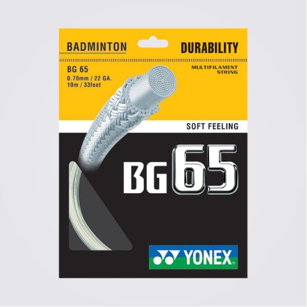 [健康羽球館] YONEX(YY) 球拍線 BG 65 一次限購10條 (量大可議價)