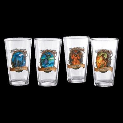 【丹】暴雪商城_Hearthstone Pint Glasses (Set of 4) 爐石戰記 水杯 玻璃杯 四個