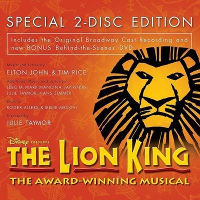 正版CD+DVD音樂劇原聲帶《獅子王》百老匯原始卡司/ Lion King   全新未拆