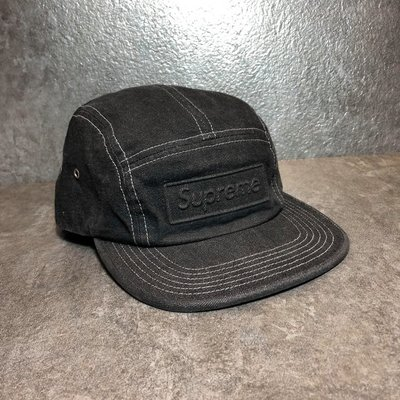 【Faithful】Supreme BOSSED STONE WASHED CAMP CAP 【SUP_HAT090】黑