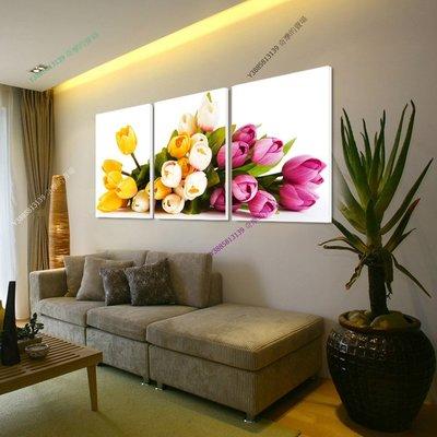 【30*30cm】【厚0.9cm】三色鬱金香-無框畫裝飾畫版畫客廳簡約家居餐廳臥室【280101_380】(1套價格)