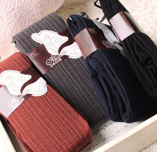 嘉芸的店 日本麻花豎條紋 顯瘦日本保暖褲襪 內裡刷毛 日本毛褲襪 褲檔加強 四色 日本雜誌推薦款 襪子