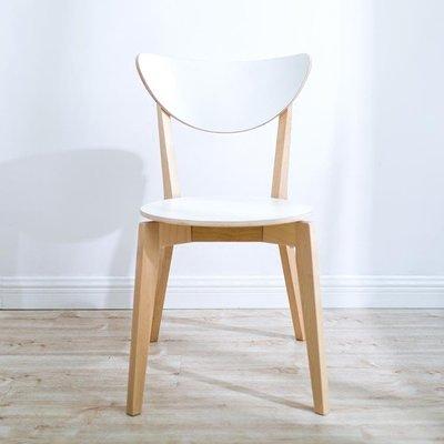 北歐實木諾米拉椅餐椅現代簡約休閒椅電腦椅咖啡廳椅靠背餐廳椅子