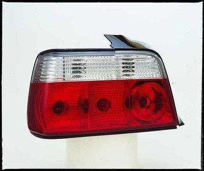 ☆雙魚座〃汽車精品〃BMW E36 4D 4門 1991~1997 紅白晶鑽版尾燈 E36 尾燈 SONAR 製