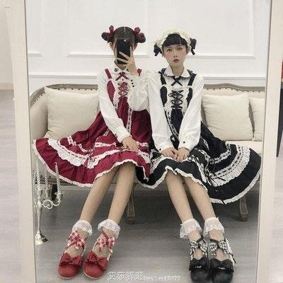 YEAHSHOP 綿羊泡芙LOLITA原創拇指姑娘娃娃圓頭格子蝴蝶結低跟單鞋52324Y185